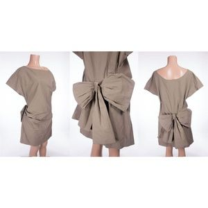 LANVIN ete 2010 Runway Bow Back Dress 40 US 8 M